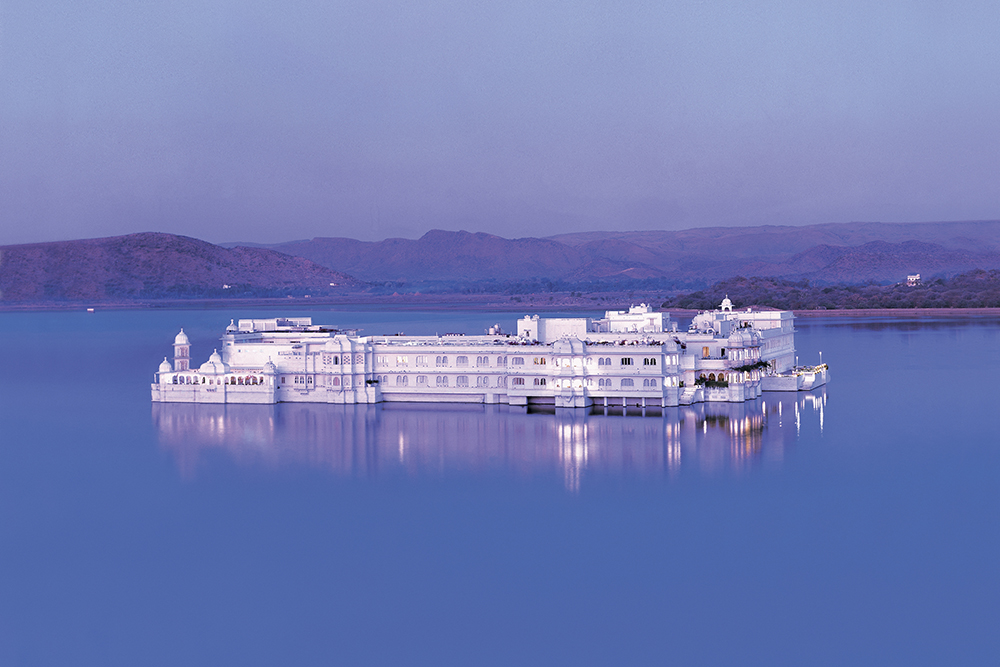 Taj Lake Palace Hotel in the Evening