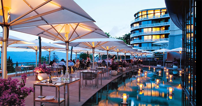 Outdoor Patio at The Dolder Grand in Zurich